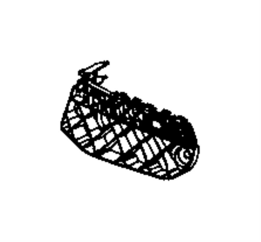 2017 dodge durango bracket  fascia  left   front end parts