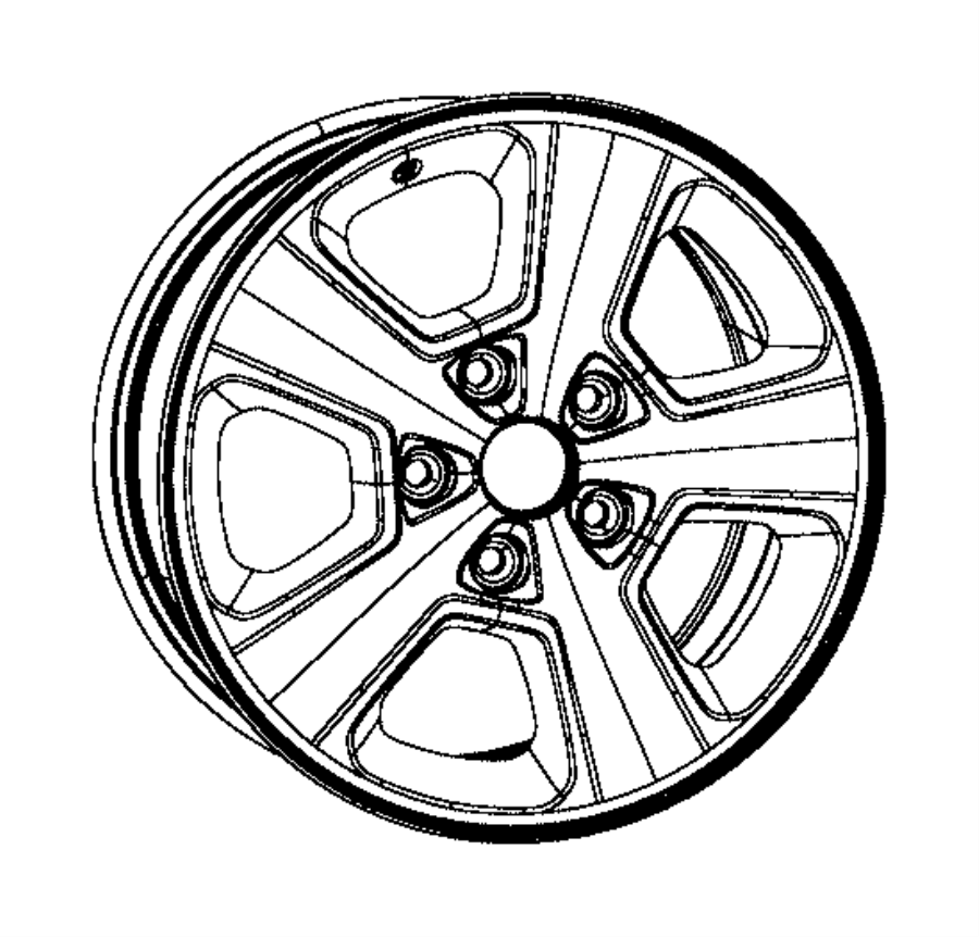 2016 jeep grand cherokee wheel  aluminum  used for  front and rear  color   no description