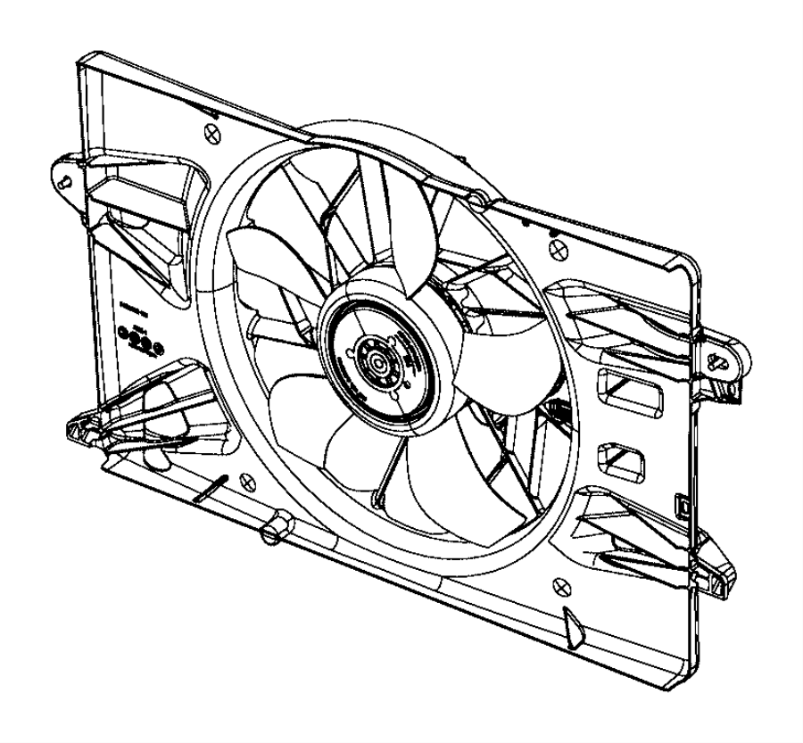 chrysler 200 fan module  radiator cooling  related