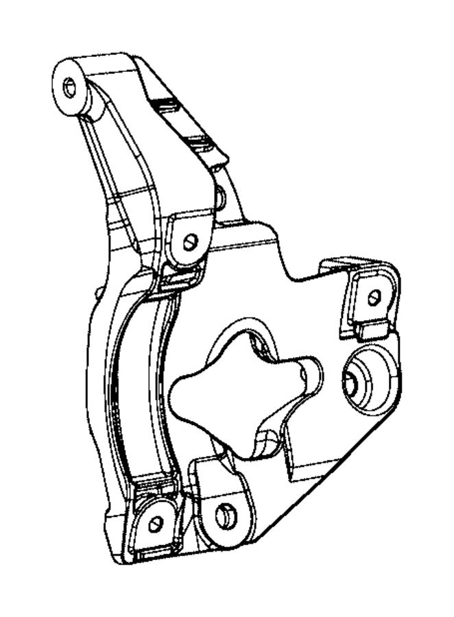 2017 jeep grand cherokee bracket  a  c compressor  idler