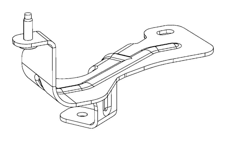 chrysler pacifica l hybrid bracket  coolant bottle
