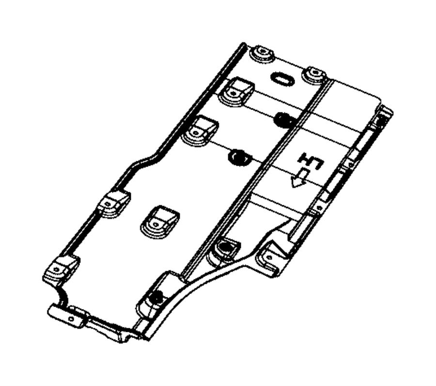 2017 Chrysler PACIFICA L HYBRID Shield. Floor Pan. Right