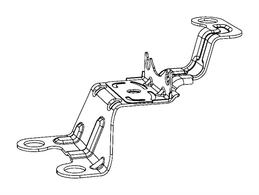 2017 chrysler pacifica bracket  hydraulic control unit  lock  wheel  disc