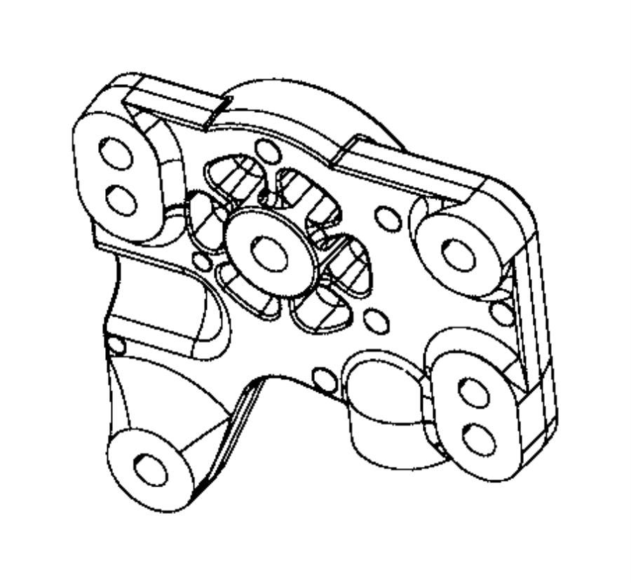 2017 jeep cherokee bracket  differential   normal duty suspension  or  euro suspension