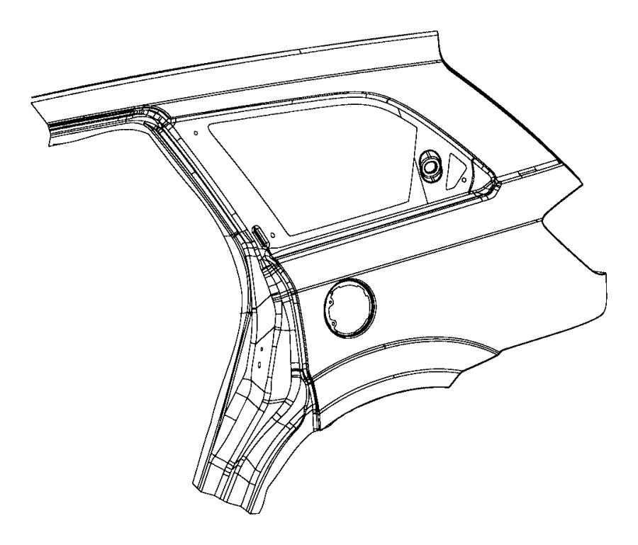 Dodge Journey Panel Package. Body Side Aperture Rear