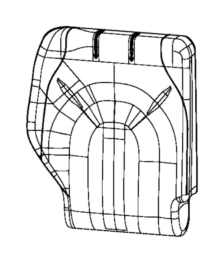 Chrysler Pacifica Cover. Rear Seat Back. 3rd Row. Right
