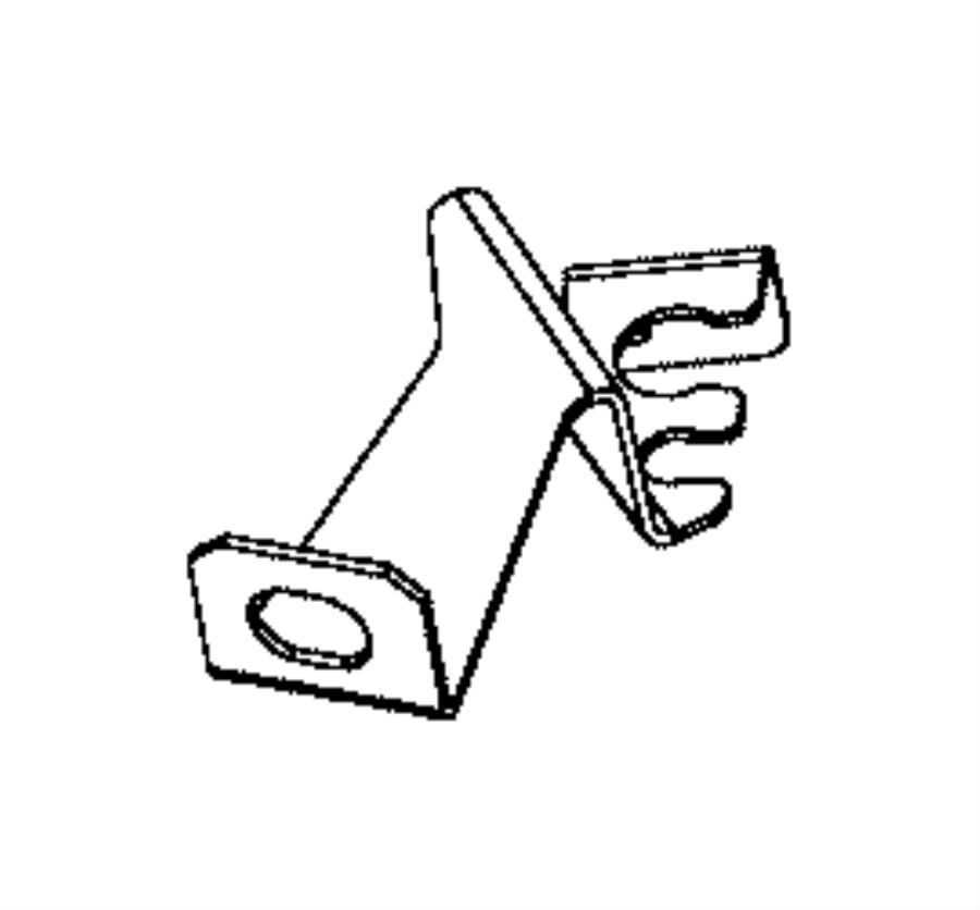 2016 chrysler 200 bracket  brake sensor wire  left  rear