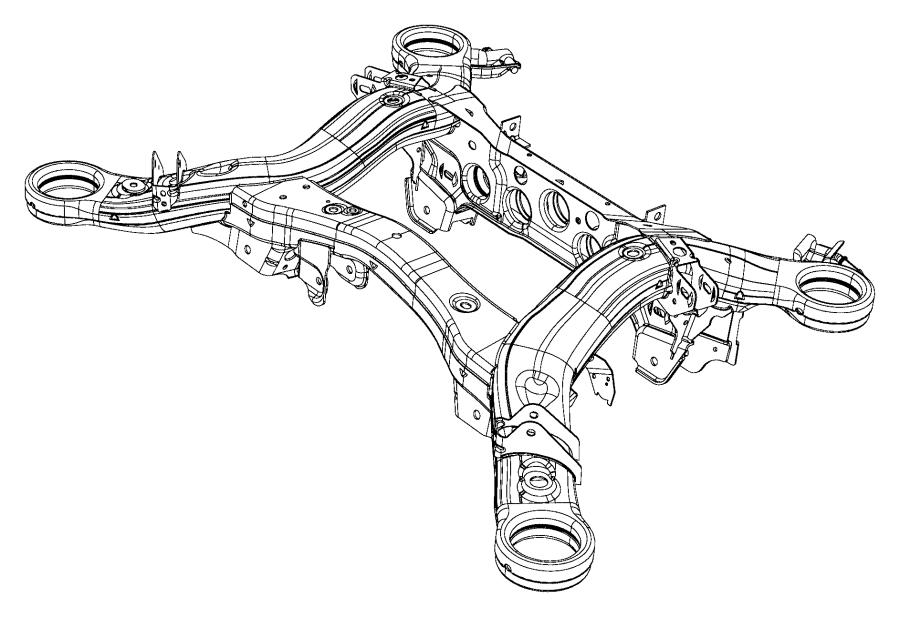 2017 jeep grand cherokee cradle  rear suspension   rear
