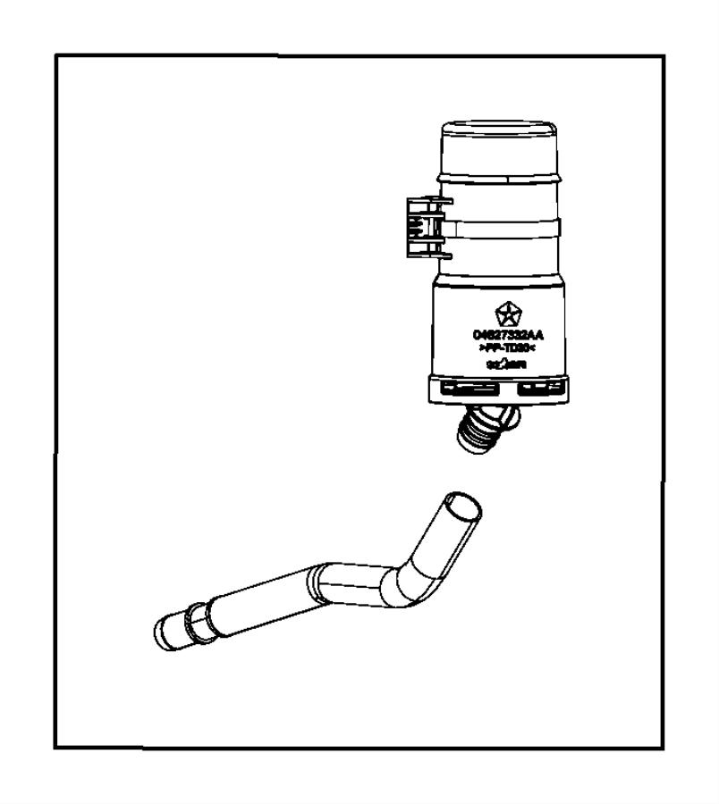 chrysler 200 filter  export  fuel vapor canister  emission