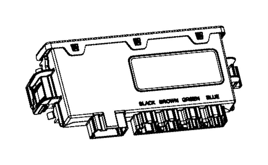 ram 5500 module  vehicle systems interface   instrument panel parts module