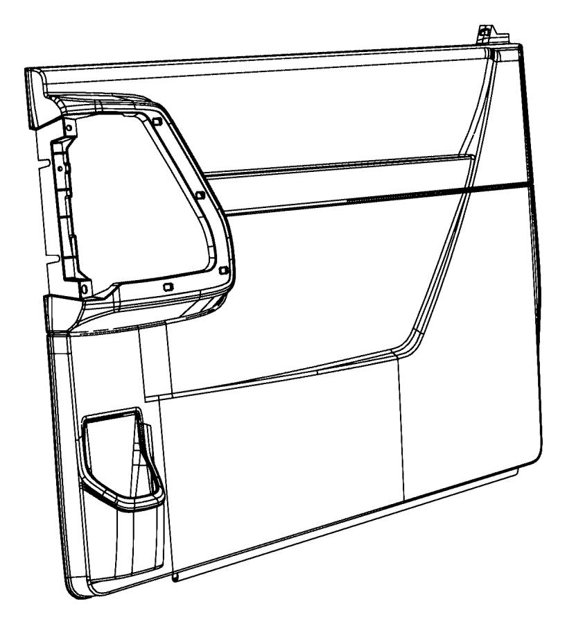 Dodge Grand Caravan Weatherstrip Sliding Door Secondary Manual Guide