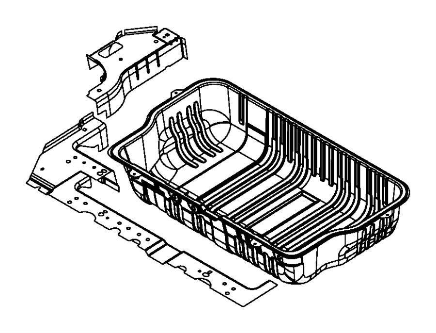 2015 dodge grand caravan panel  rear floor pan  right