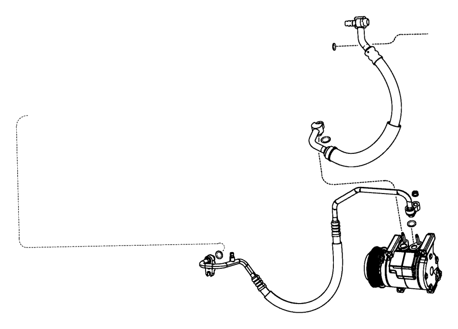 2012 dodge durango seal  a  c line  slim line  1  2  1  2 inch  plumbing  air  conditioning