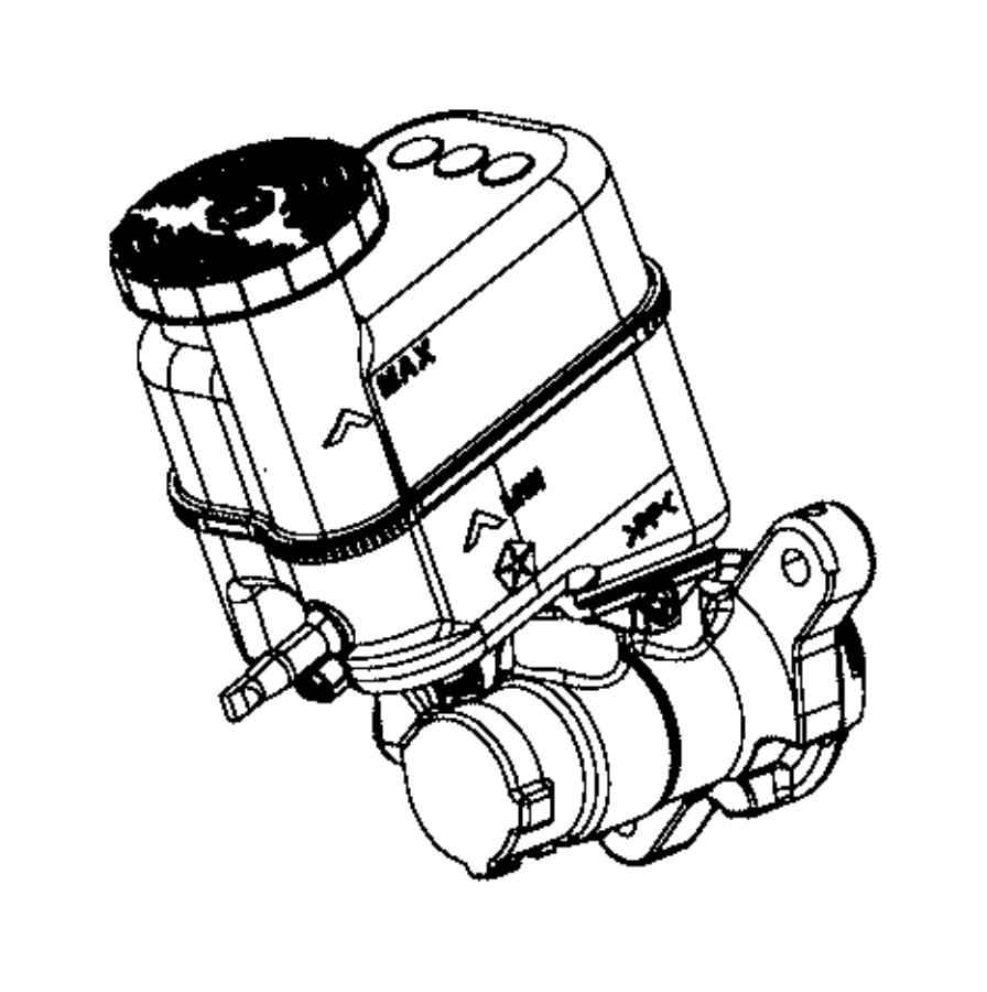 2017 jeep renegade reservoir  brake master cylinder  system
