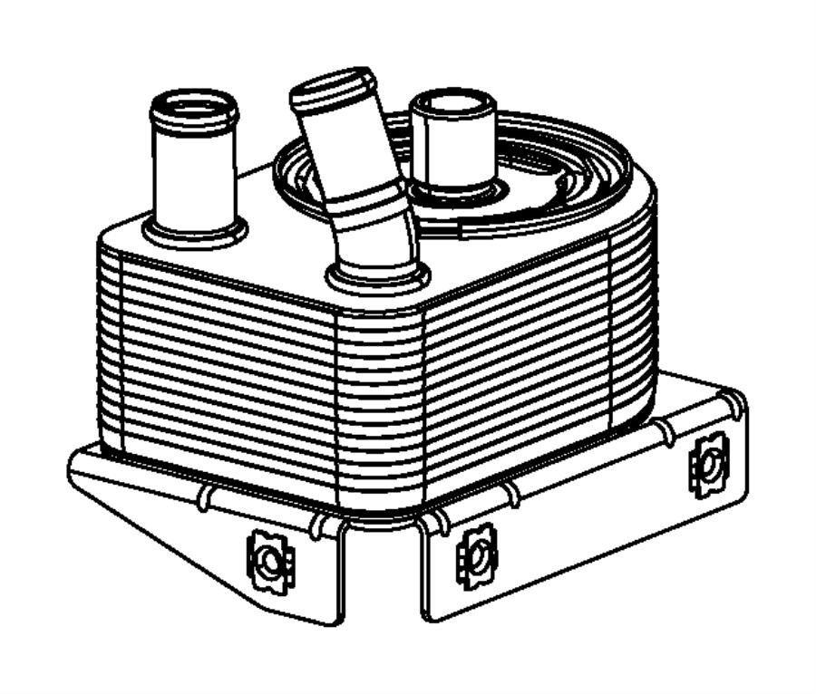 2015 Chrysler 200 Connector. Engine Oil Cooler. [engine