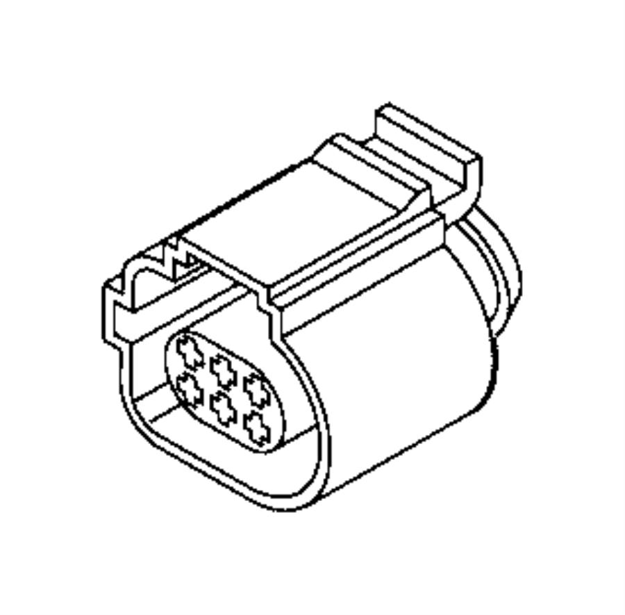 Fiat 500l Connector  Electrical  Front  U0026 Rear Door Lock