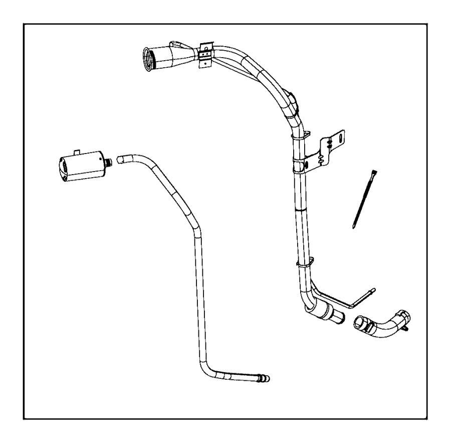 2015 jeep wrangler tube  fuel filler