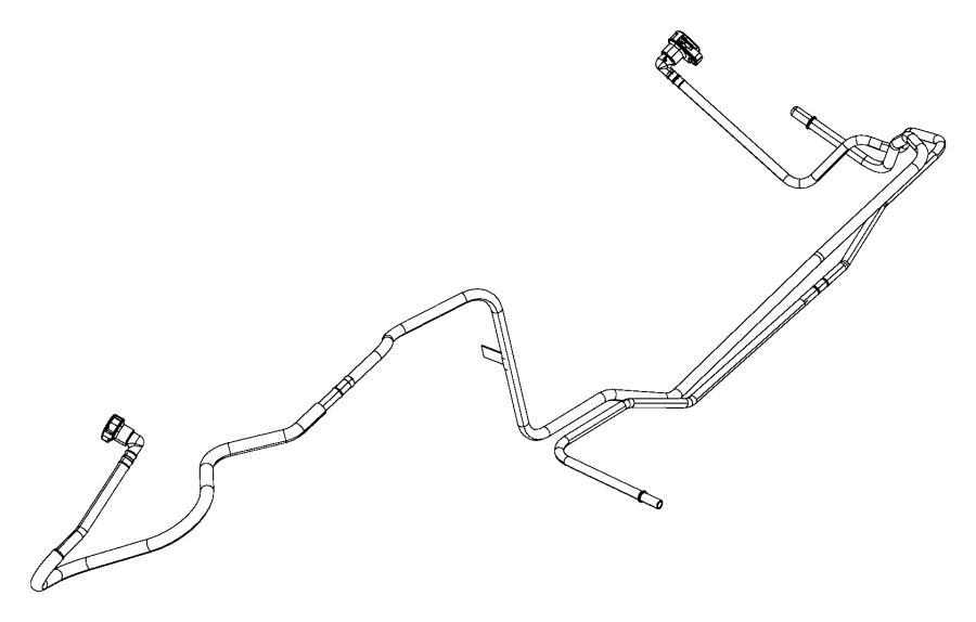 2012 jeep wrangler tube  fuel vapor  lines