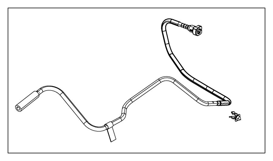 jeep wrangler tube  fuel vapor