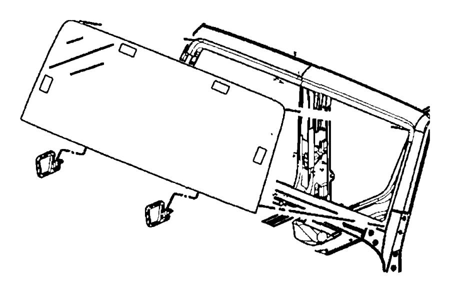 2013 jeep wrangler weatherstrip  windshield header  top  hard  dual