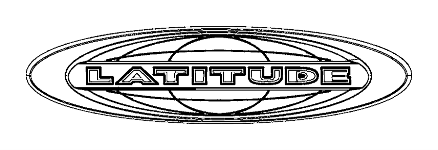 2014 Jeep Compass Nameplate Liftgate Latitude Gtc