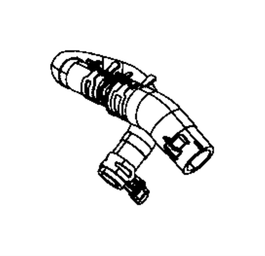 2016 Dodge Charger Hose Pump Supply Cooling Ltr System