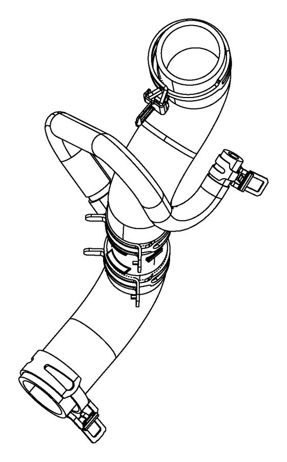 2015 dodge durango hose  radiator outlet  engine  oil