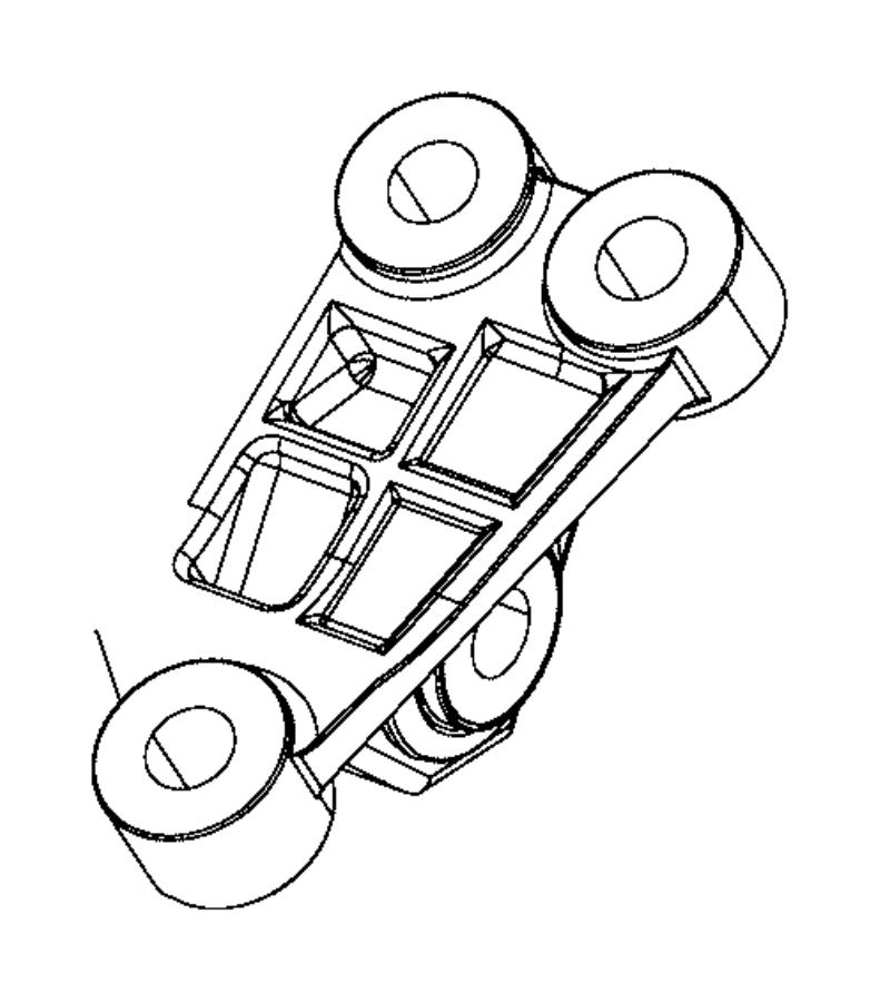 2017 Jeep Renegade Support Engine 68323788aa Mopar