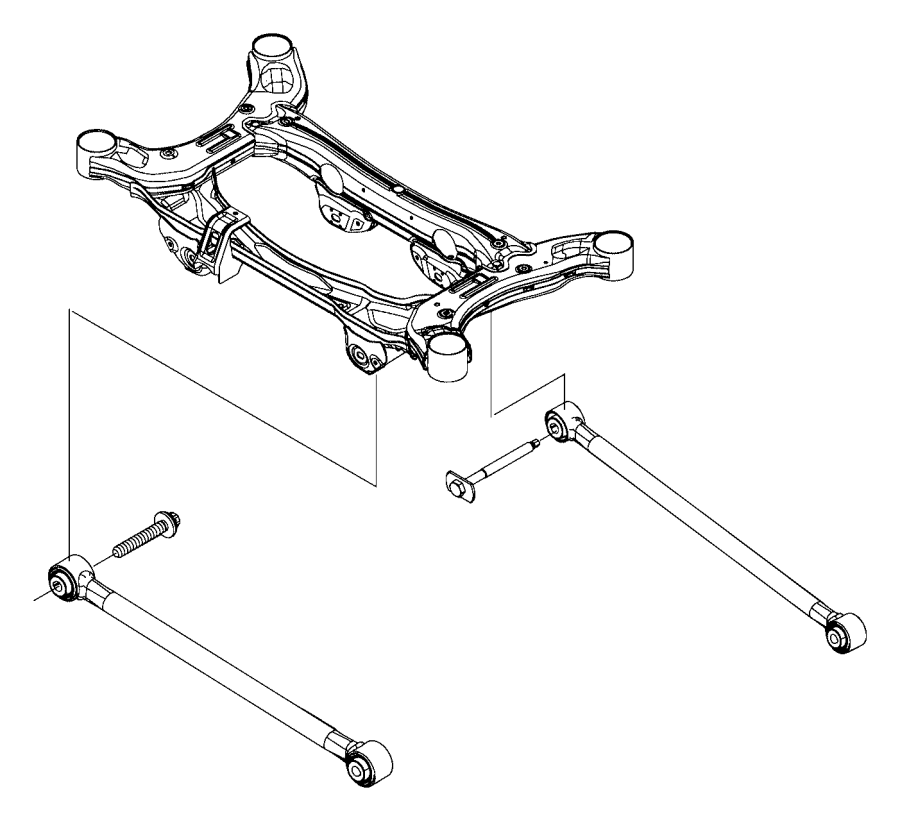 2016 Jeep Renegade Guide Rod Suspension Rear