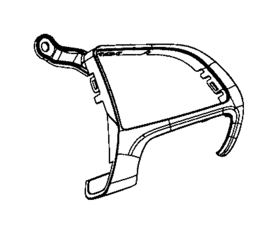2017 dodge challenger bezel  steering wheel  9 o clock  left  right  trim   no description
