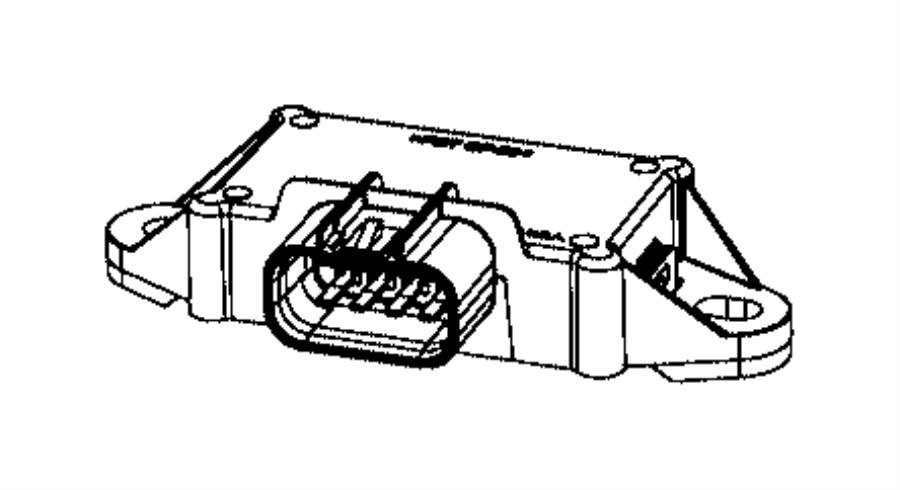 2017 chrysler pacifica module  fuel pump control  body  tank  gallon
