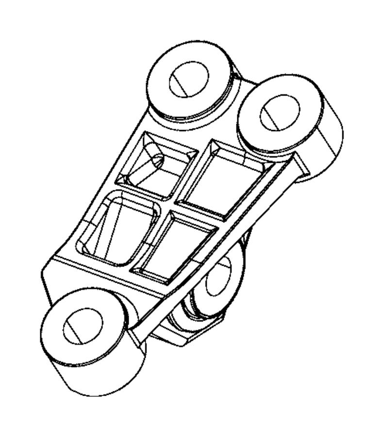 2017 jeep renegade bracket  engine mount   6-speed c635 manual transmission