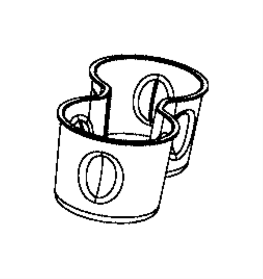 jeep compass liner  cup holder  trim    o0  color   black