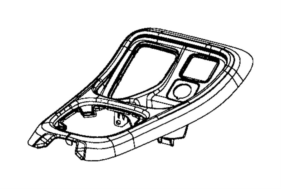 jeep renegade bezel  gear shift indicator  trim    o0