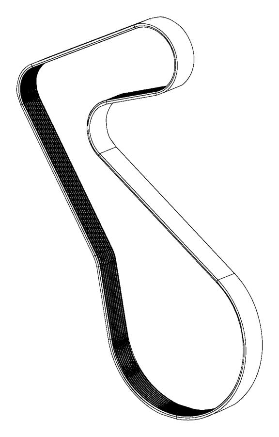 2016 Dodge Challenger Belt  Supercharger Drive  Black