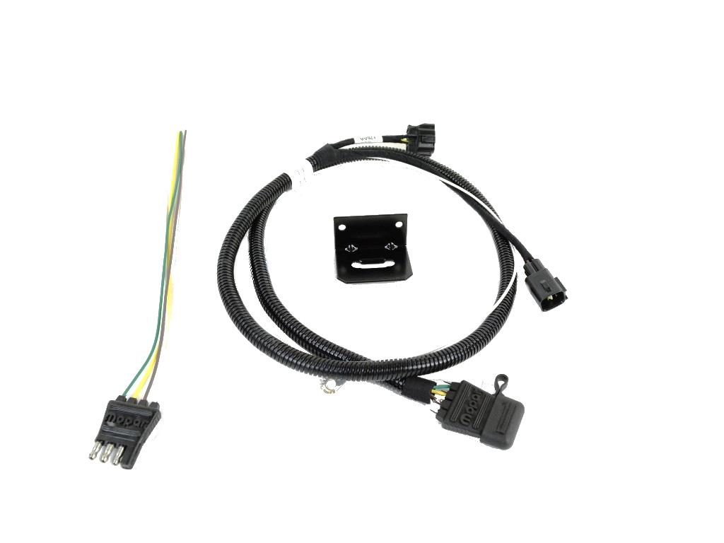 82209183AB-0-ANG Splicing Trailer Wiring Harness on toyota tacoma 7 pin, jeep liberty, jeep grand cherokee,