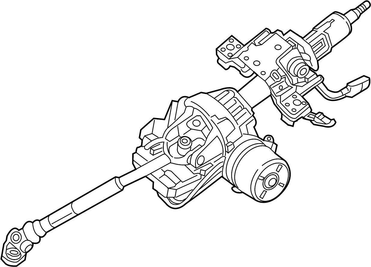 jeep wrangler column  steering